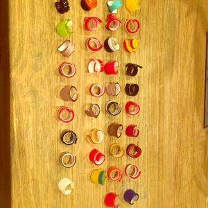 Italian Murano Glass Rings